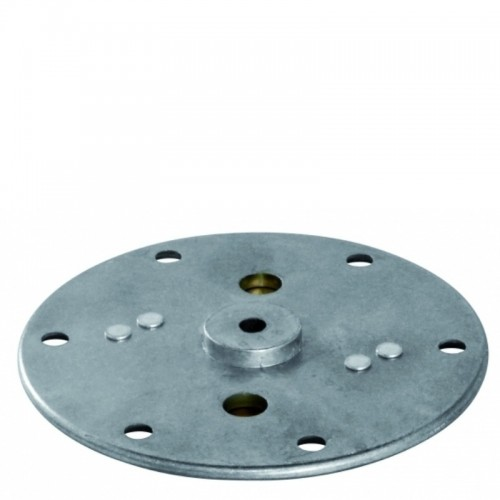 Plate for piston