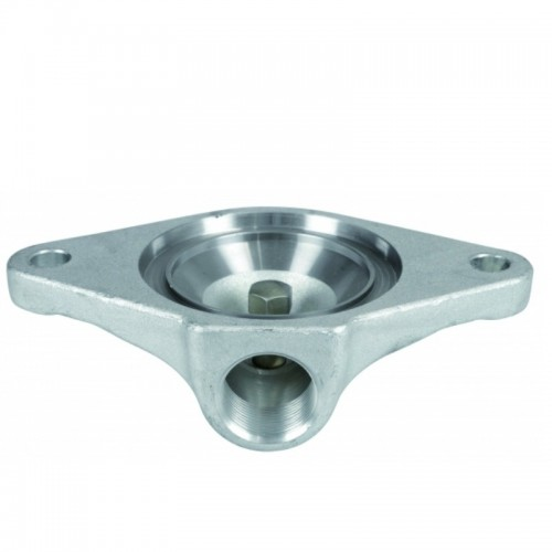 pressure flange replaceable pin