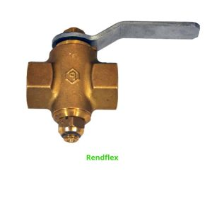 Brass shut off plug valve