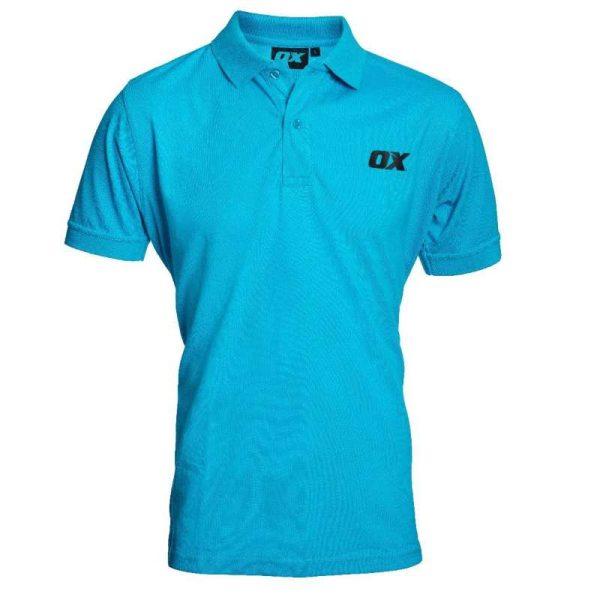 OX TECH POLO SHIRT SKY BLUE